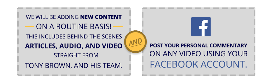New content and videos constantly added. Comment with your Facebook account